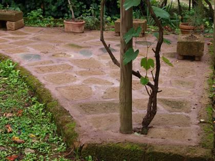 Angolo relax in giardino for Mattoni tufo giardino